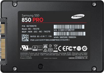 Ổ cứng SSD 512GB Samsung 850 PRO 2.5-Inch SATA III 7