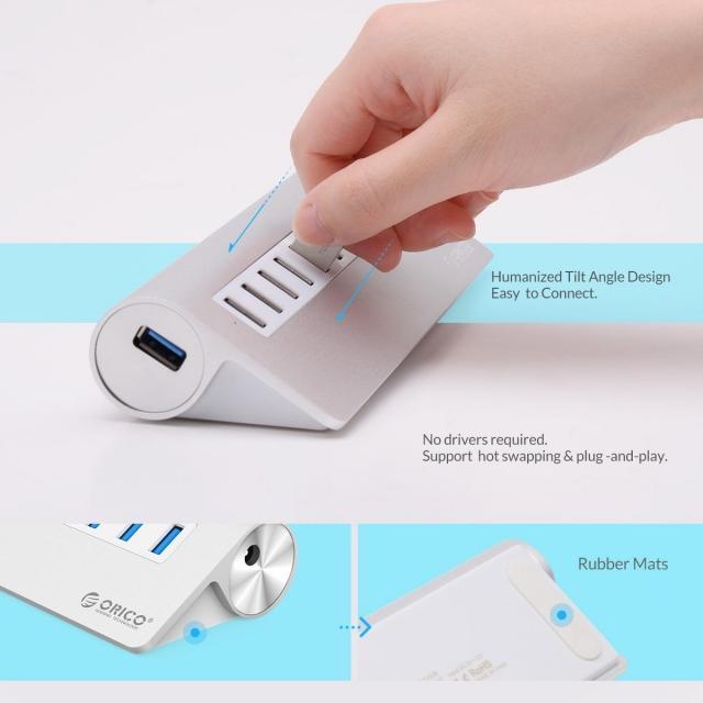 Bộ chia 10 cổng USB 3.0 Orico M3H10 vỏ nhôm - Hub USB Orico Aluminum 13