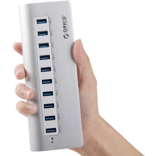 Bộ chia 10 cổng USB 3.0 Orico M3H10 vỏ nhôm - Hub USB Orico Aluminum 9