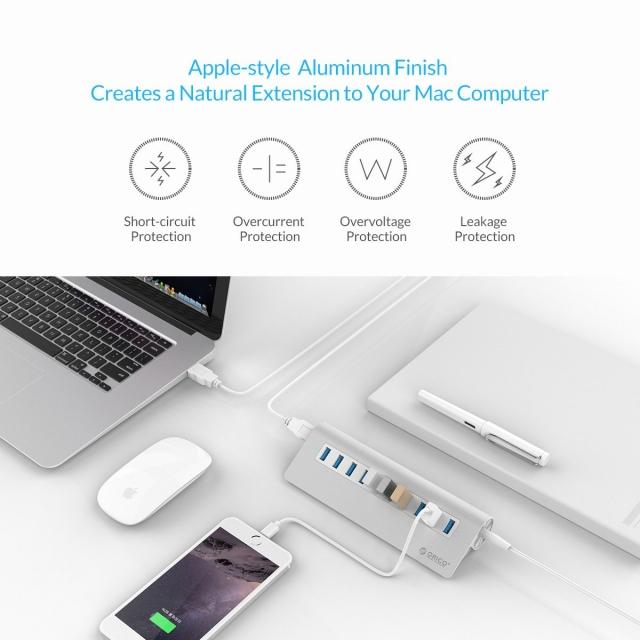 Bộ chia 10 cổng USB 3.0 Orico M3H10 vỏ nhôm - Hub USB Orico Aluminum 20