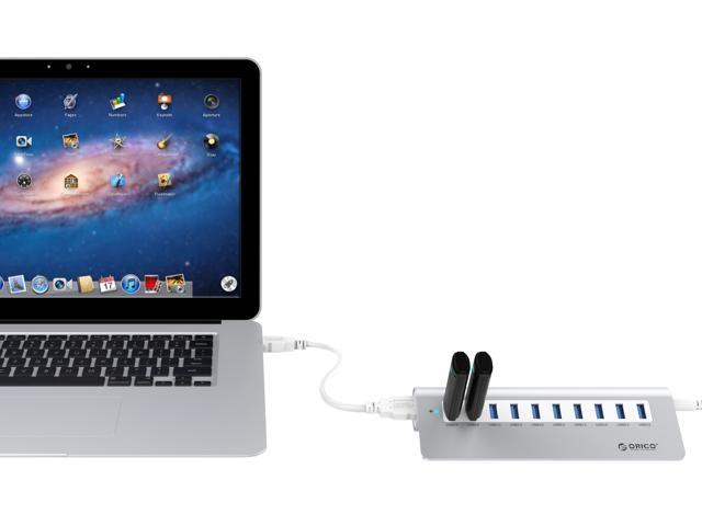Bộ chia 10 cổng USB 3.0 Orico M3H10 vỏ nhôm - Hub USB Orico Aluminum 22