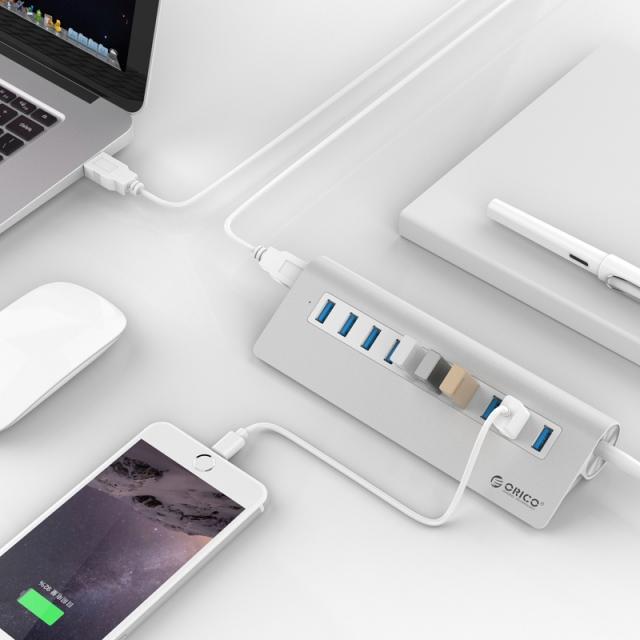 Bộ chia 10 cổng USB 3.0 Orico M3H10 vỏ nhôm - Hub USB Orico Aluminum 25