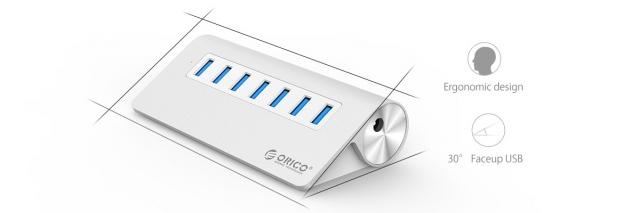 Bộ chia 7 cổng USB 3.0 Orico M3H7 vỏ nhôm - Hub USB Orico Aluminum 21