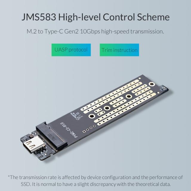 Box chuyển M.2 PCie sang USB 3.1 ORICO PVM2-C3 - Biến SSD M.2 NVMe thành ổ cứng di động 10