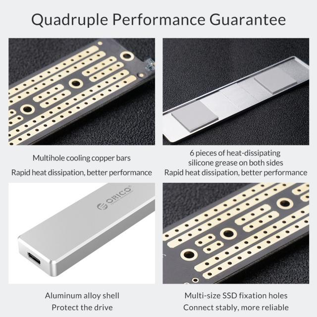 Box chuyển M.2 PCie sang USB 3.1 ORICO PVM2-C3 - Biến SSD M.2 NVMe thành ổ cứng di động 13