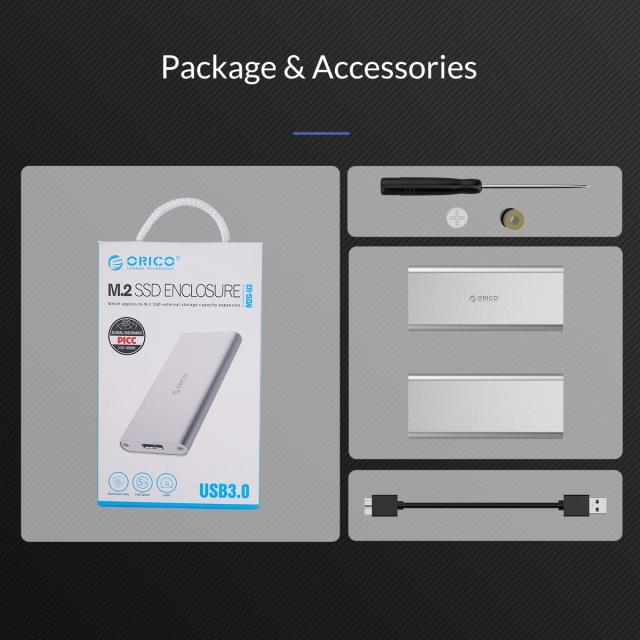 Box chuyển M2 Sata sang USB 3.0 ORICO M2G-U3 - Biến SSD M.2 thành ổ cứng di động 14