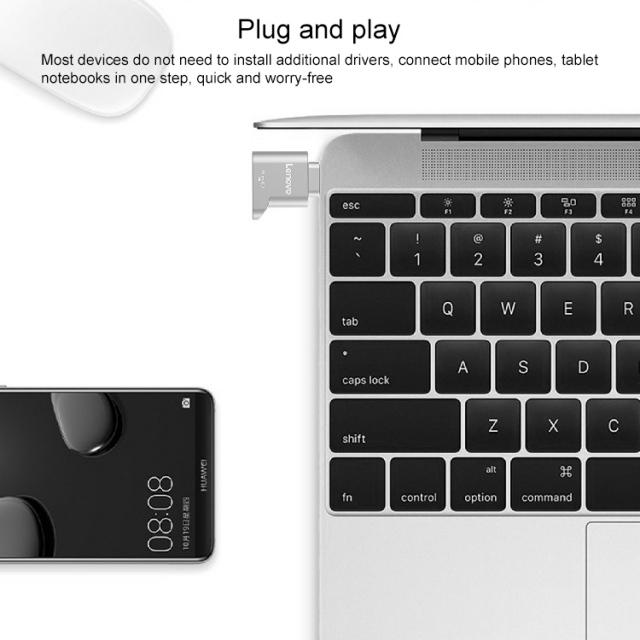 Đầu chuyển thẻ nhớ MicroSD sang USB Type C Lenovo D201 (MicroSD to USB OTG Type-C) 10