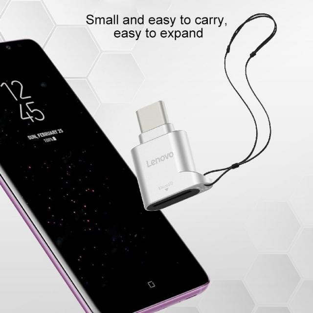 Đầu chuyển thẻ nhớ MicroSD sang USB Type C Lenovo D201 (MicroSD to USB OTG Type-C) 9