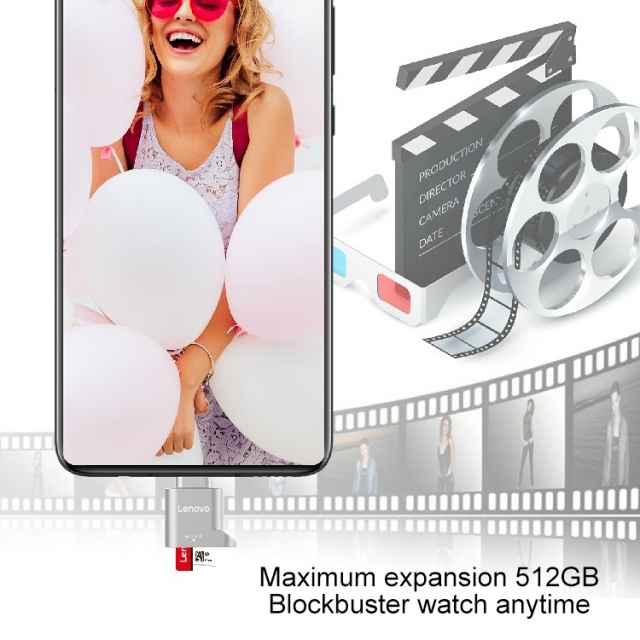 Đầu chuyển thẻ nhớ MicroSD sang USB Type C Lenovo D201 (MicroSD to USB OTG Type-C) 11