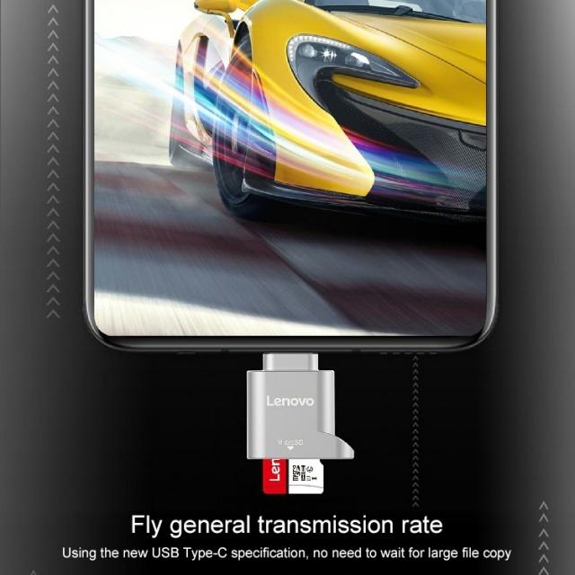 Đầu chuyển thẻ nhớ MicroSD sang USB Type C Lenovo D201 (MicroSD to USB OTG Type-C) 12