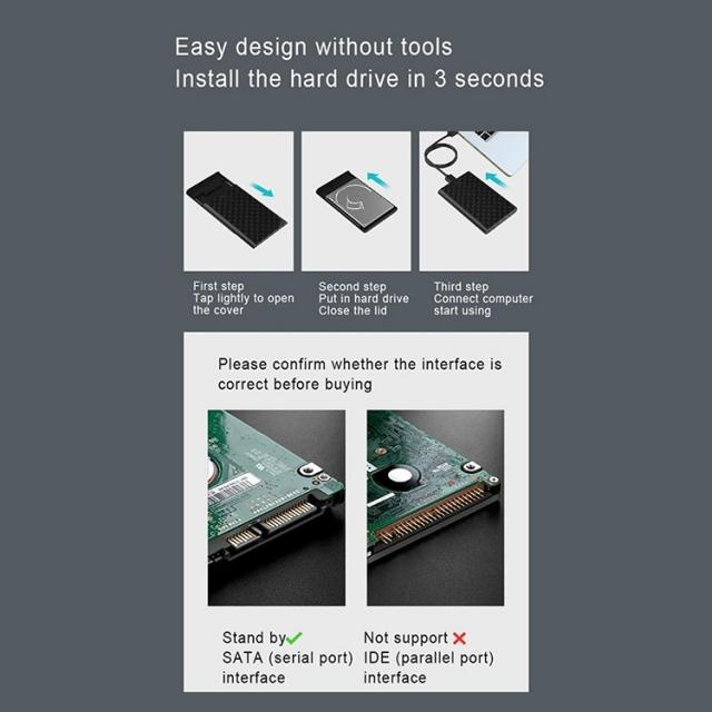 Box Lenovo S-02 USB 3.0 - Biến HDD/SSD 2.5-Inch thành ổ cứng di động 12