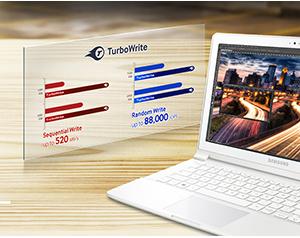 M2-SATA Samsung 850 EVO - Công nghệ TurboWrite